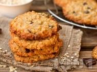 Лесни овесени бисквити със сушени плодове и ядково мляко